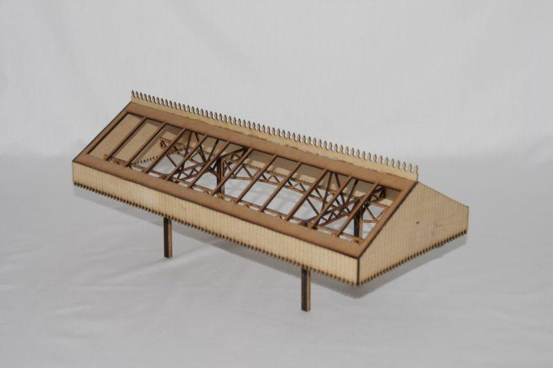 Fine Scale O Gauge Station Canopy - Large