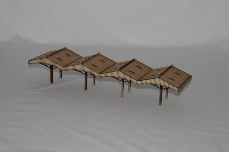 Fine Scale OO Gauge Station Canopy (84mm Wide)
