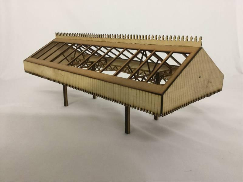 Fine Scale OO Gauge Station Canopy
