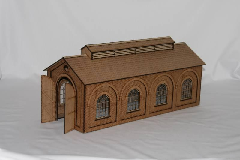 Fine Scale OO Gauge Engine Shed