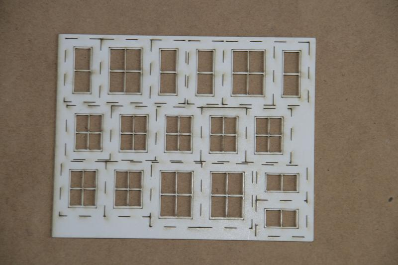 OO Gauge House Windows with Glass