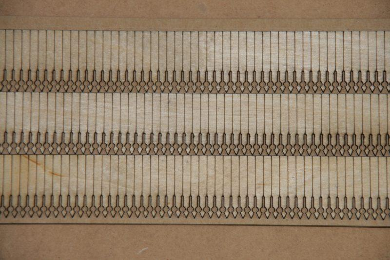 OO Gauge GWR Station Valance - Set of 3