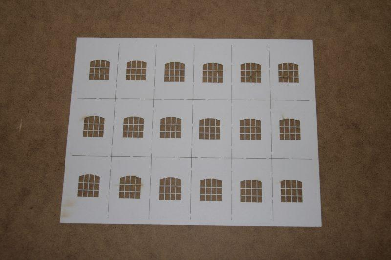 OO Gauge Warehouse Windows (20mm x 19mm)